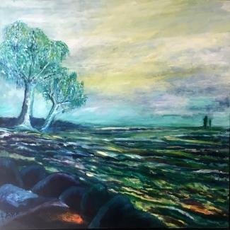 Ank Thijssen_Brabants landschap_olieverf op doek_100x100
