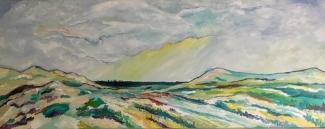 Ank Thijssen_Duinlandschap bij Callantsoog_olieverf1 op doek_150x50