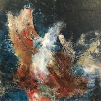 Annemiek van der Hart_Vloer-2_gemengde technieken op linnen_65x65