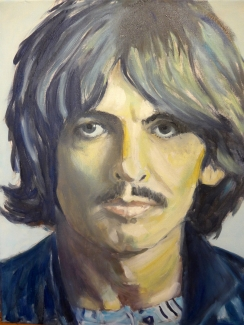 Anton Koenraads_George Harrison 1968_olie op doek_40x50