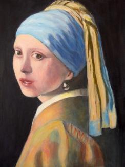 Anton Koenraads_Meisje met parel_acryl op doek_40x50