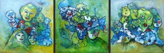 Arda Keizer_Clusters_acryl op board_3 st 15x15