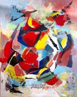 Corrie Bulle_abstract_acryl op doek_100x80