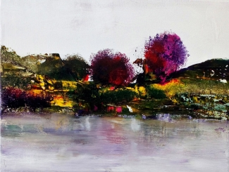 Dittie Nouwens_Riverside abstract_acryl op paneel_30x40