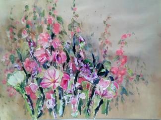 Frederika van Veen_Geen titel_olieverf papier_60x50