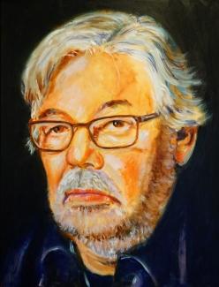 Hans Könemann_Maarten van Rossem_acryl op doek_60x80