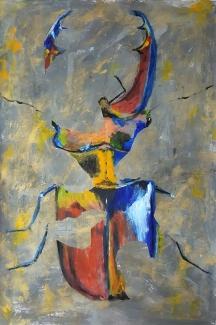 Hans Kuipers_Zonder titel 4_acryl op papier_70x100