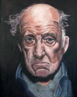 Harrie van der Wielen_Portret Hans Croiset_olieverf op doek_40x50