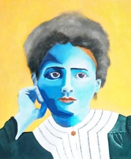 Helma Coumans_Marie Curie uit de serie geleerde vrouwen_Olieverf op doek_50x60