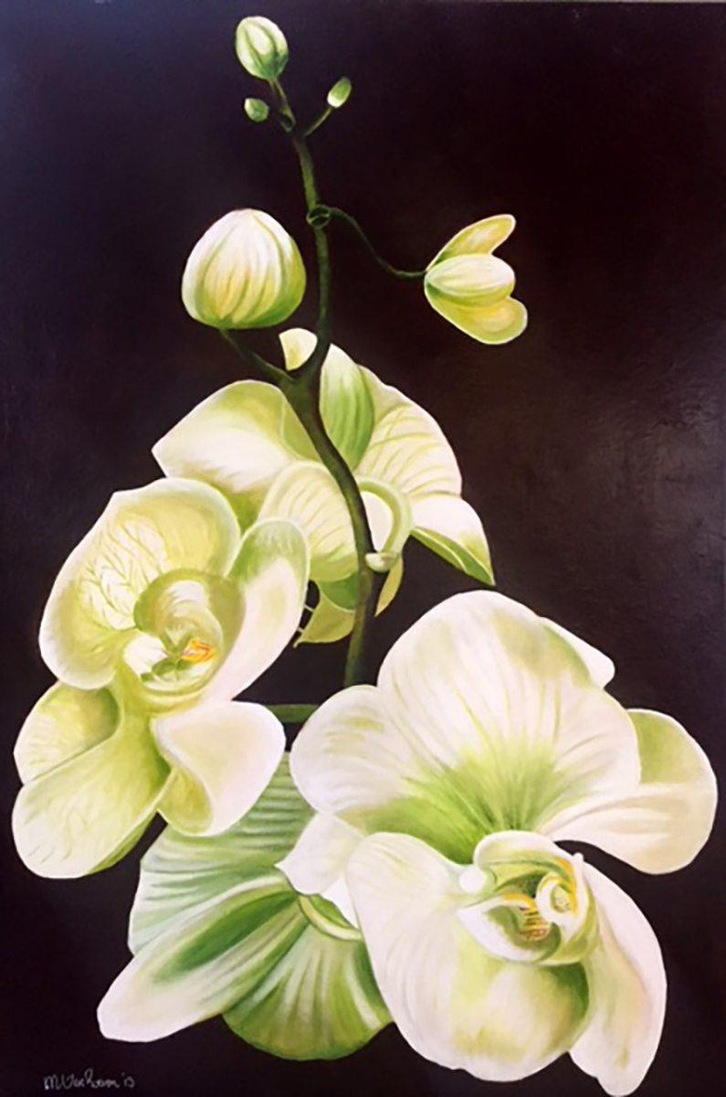 Monique-van-Wesenbeek_Phalaenopsis-vlinderlelie_Olieverf-op-doek_90x60