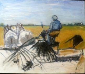 Julia Iding_Ploegen met paard_acryl op linnen_80x80.jpg