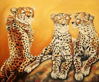 Monique van Wesenbeek_Cheeta's _Olieverf op doek_150x100