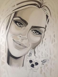 Monique van Wesenbeek_Portret Brigitte_Acrylverf op doek_115x75