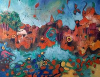 Nellie-van-Kemenade_In-my-dreams_olieverf-op-doek_70x90