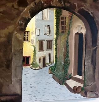 Rina van Esch_Italië_olieverf op katoen_50x50
