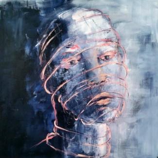 Ted Hezemans_Gevangen_acryl op linnen_100x100
