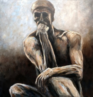 Theo Raaijmakers_De Denker van Rodin_100x100