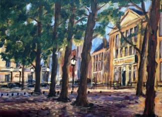 Theo Raaijmakers_Lange Voorhout Den Haag_60x40