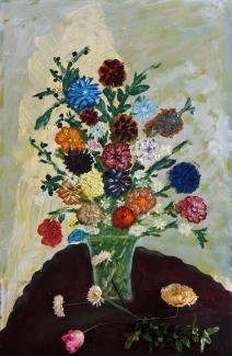 Toon Eliëns_Vaas met bloemen_olieverf op doek_75x115