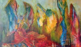Wietske Lamper_Zonder titel 2_acryl met collage op doek_60x70