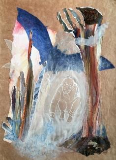 Willie-van-Schie-Kamps_About-Care-4_gemengde-techniekcollage-op-textielpapier_46x34-1
