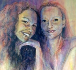 Willie-van-Schie_Kamps_Daughters_acryl-op-doek_120x100