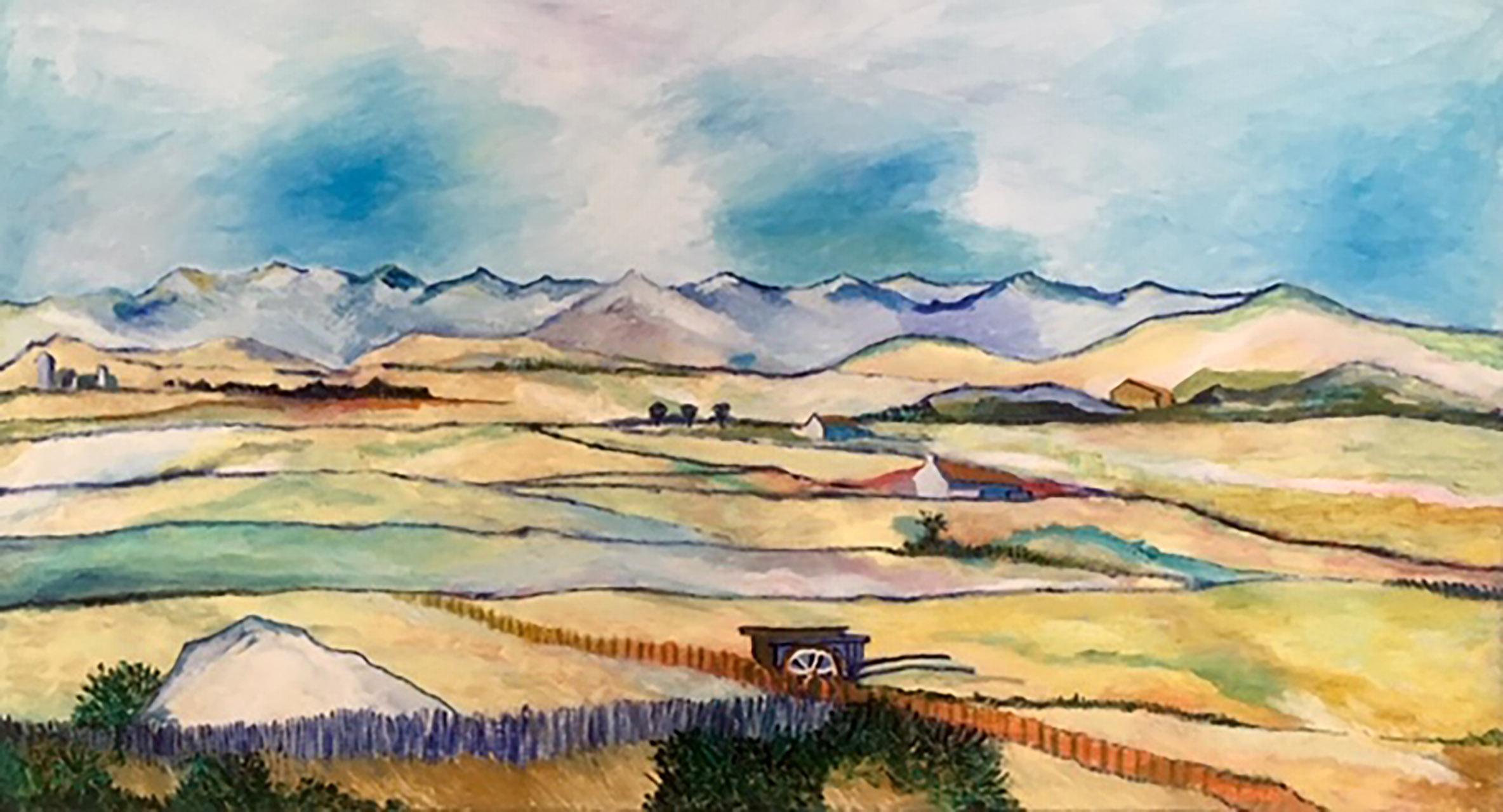 Ank Thijssen_Inspiratie op de Oogst van Vincent van Gogh_olieverf op doek_110x50