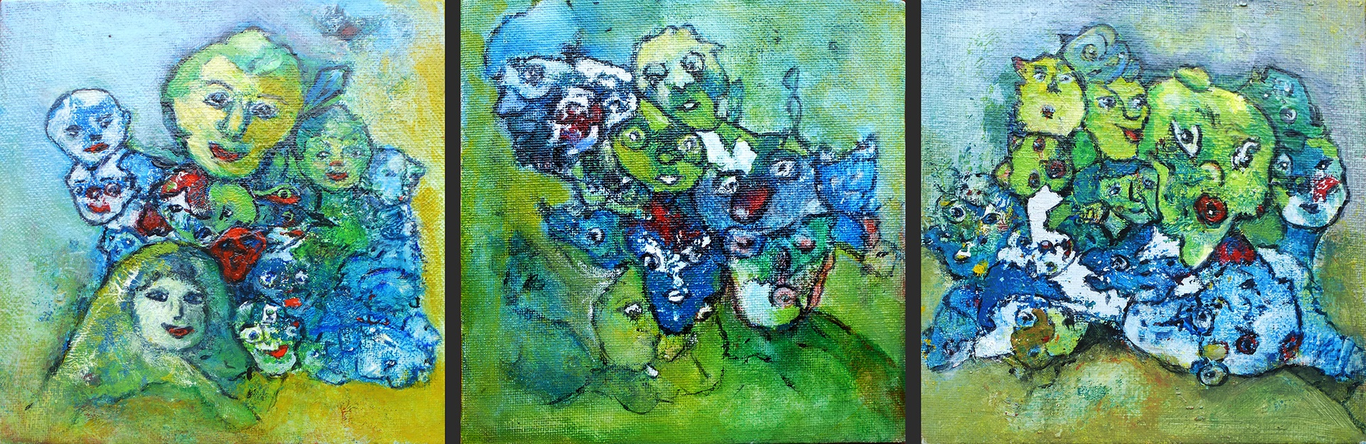 Arda Keizer_Clusters_acryl op board_3x 15x15