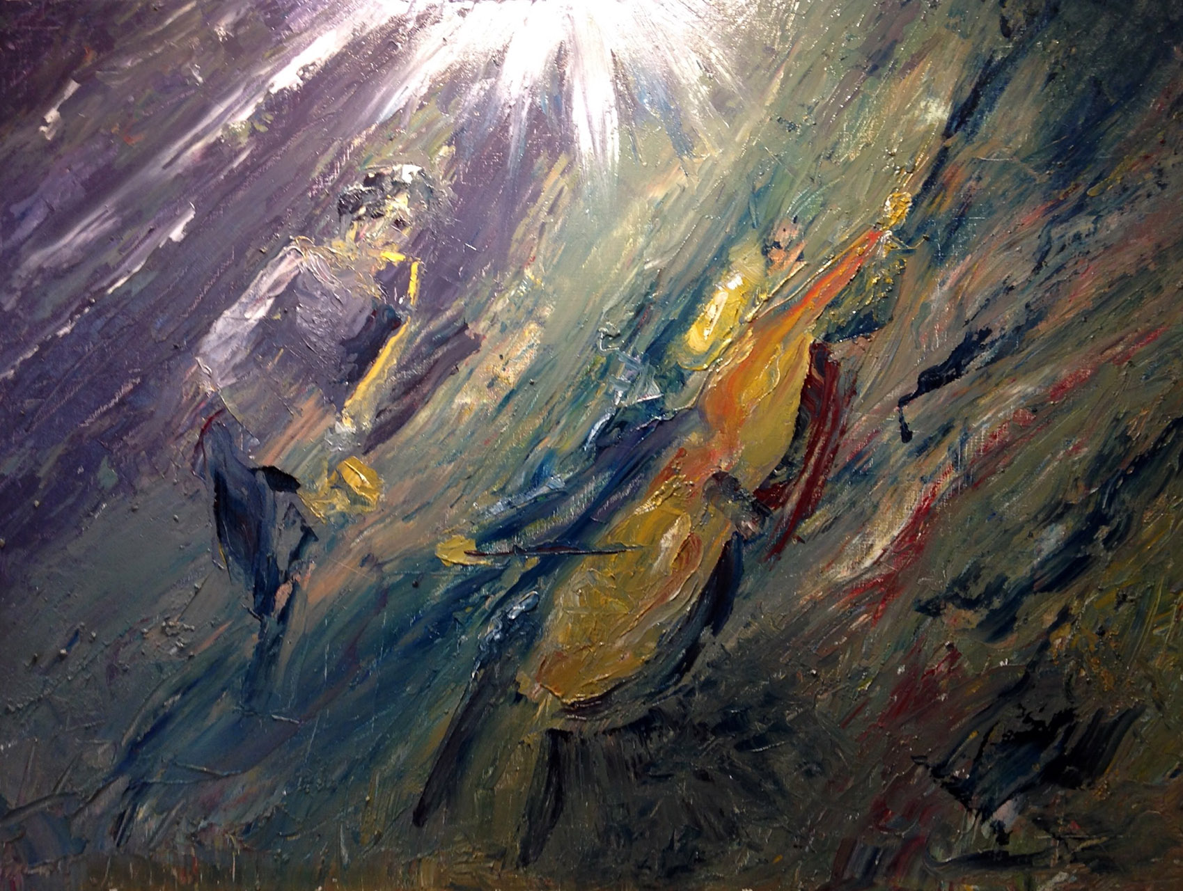 Dick van Tongeren_JamSession_Olieverf op canvaspaneel_30x25
