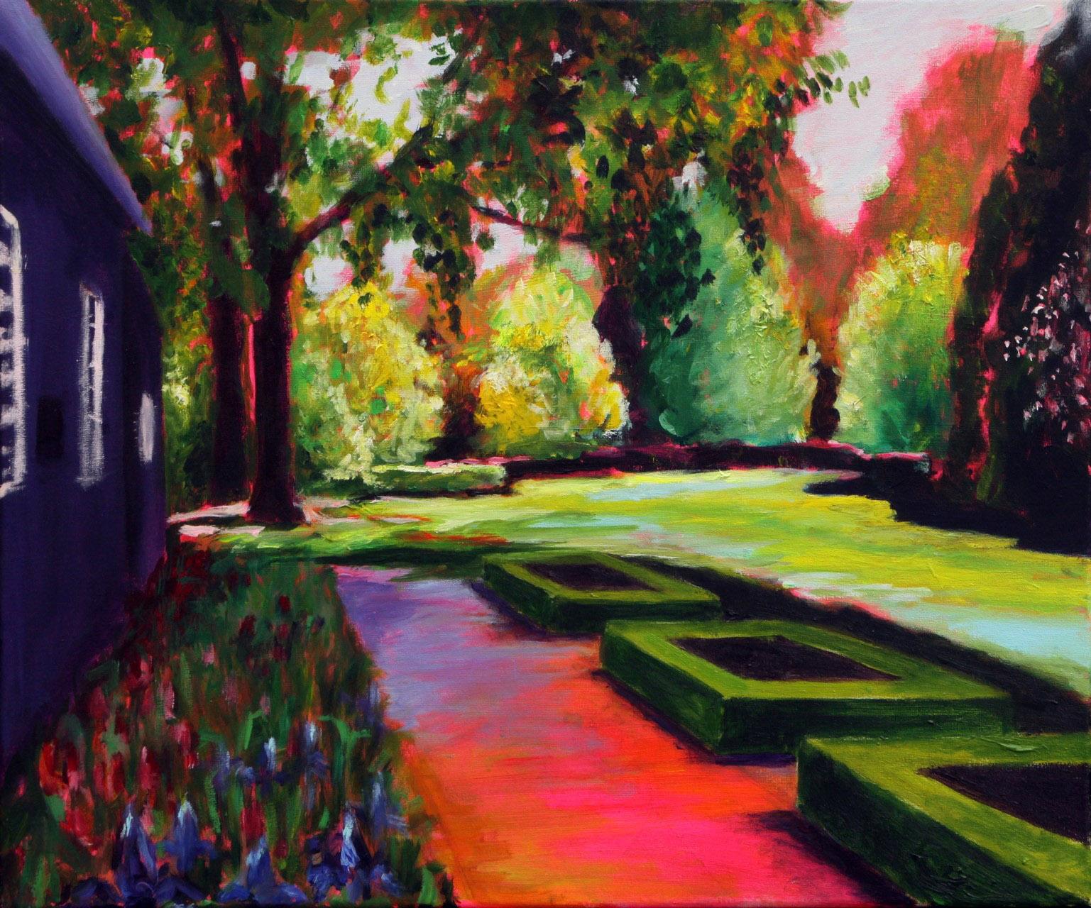 Fokkema_van_den_Berg_Gerdien_De tuin van de pastorie_Acryl op linnen_150X100cm-1