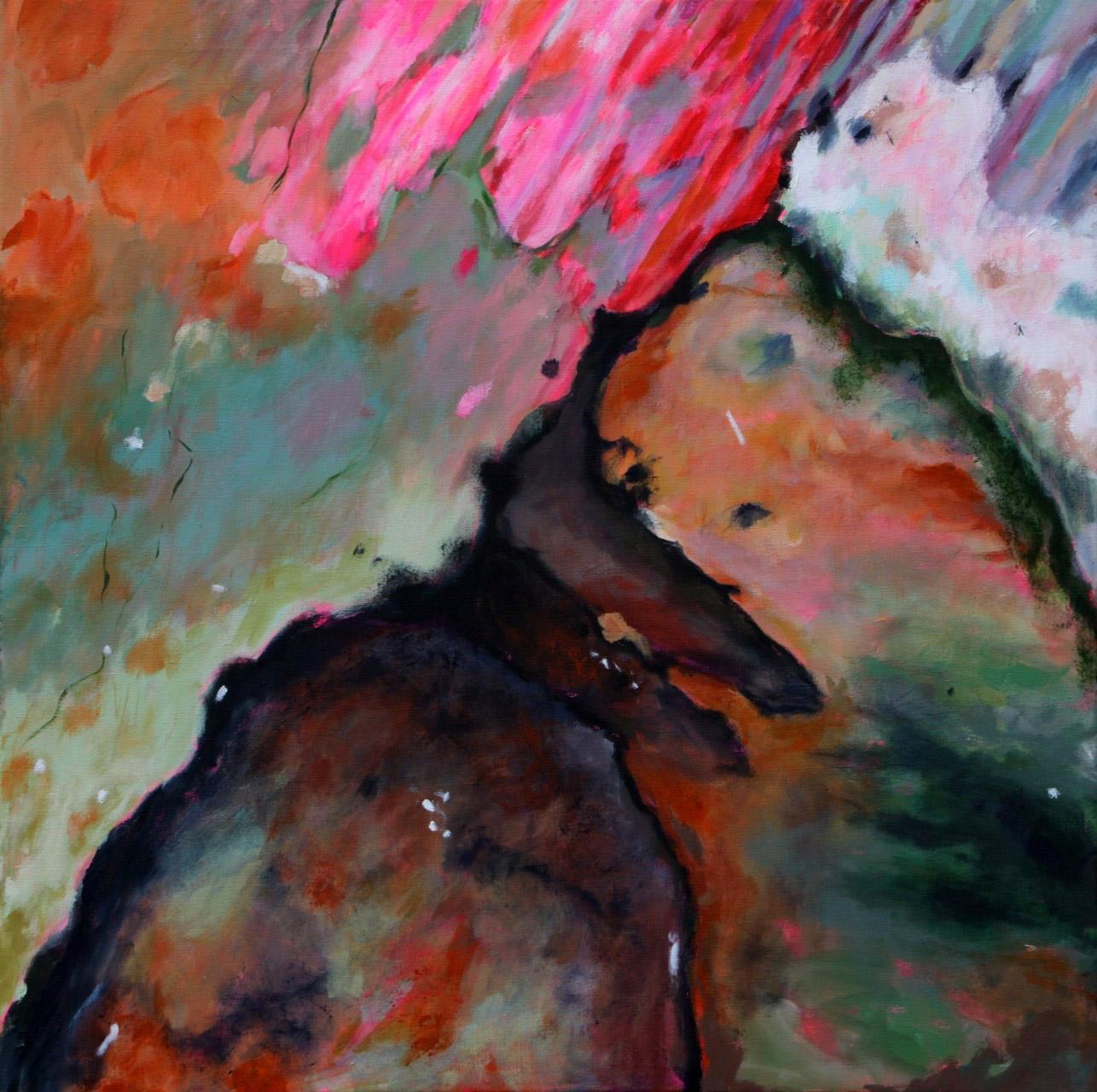 Fokkema_van_den_Berg_Gerdien_De vloer van het atelier_acryl op linnen_100X100cm