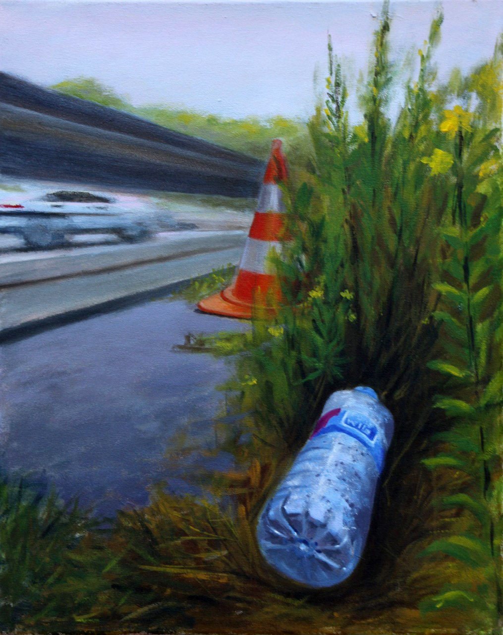 Fokkema_van_den_Berg_Langs de snelweg_Acryl op doek_40X50cm