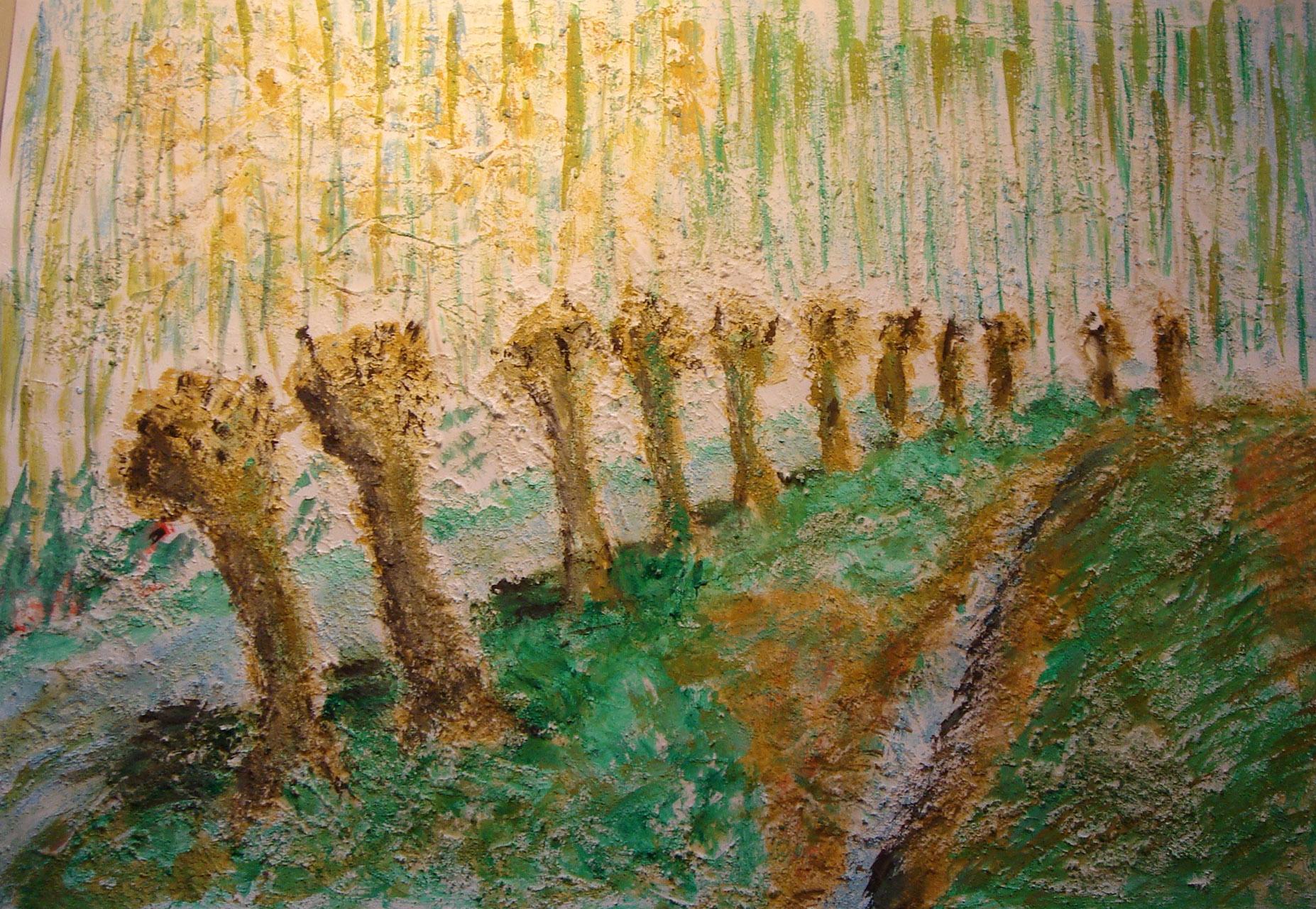 Frans van Bronkhorst_Knotwilgen_acryl op papier_40x60