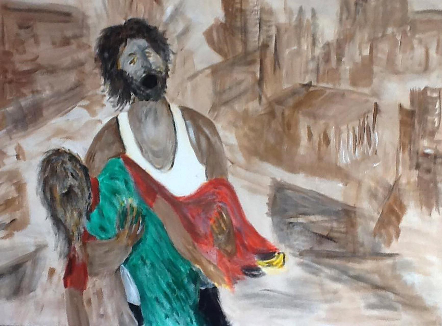 Frans van Bronkhorst_Wanhoop - Syrië_acryl op doek_60x40