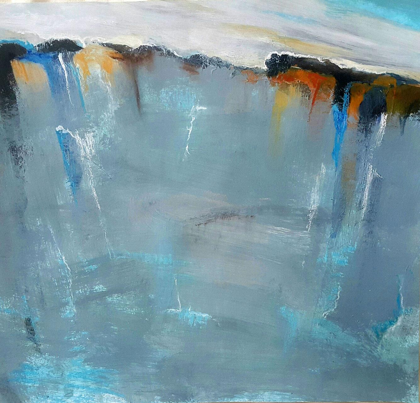 Hans Kuipers_Perito Moreno_acryl op papier_30x30
