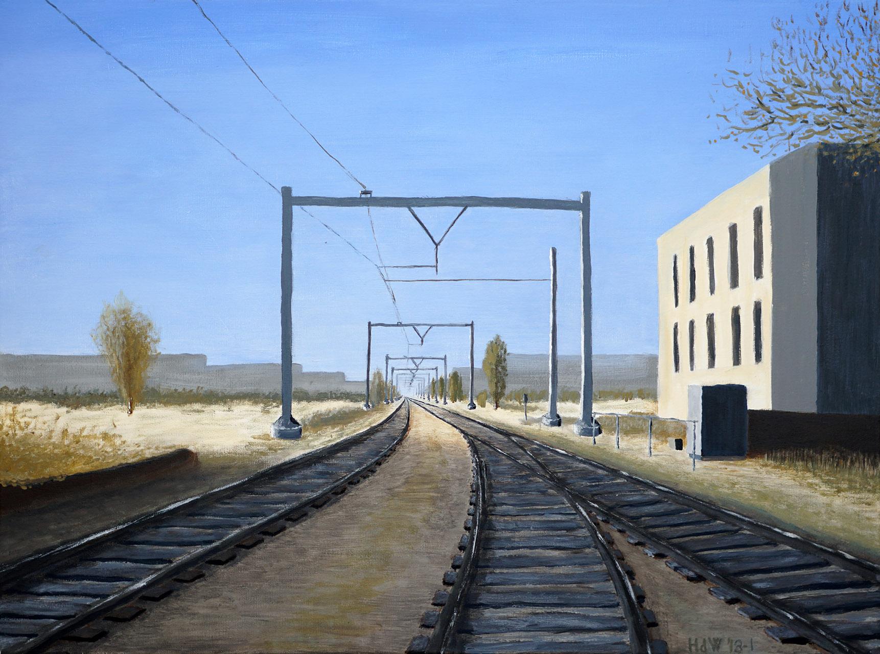 Henk de Wit_Oosterspoorbaan Utrecht_acryl op katoen_60x80