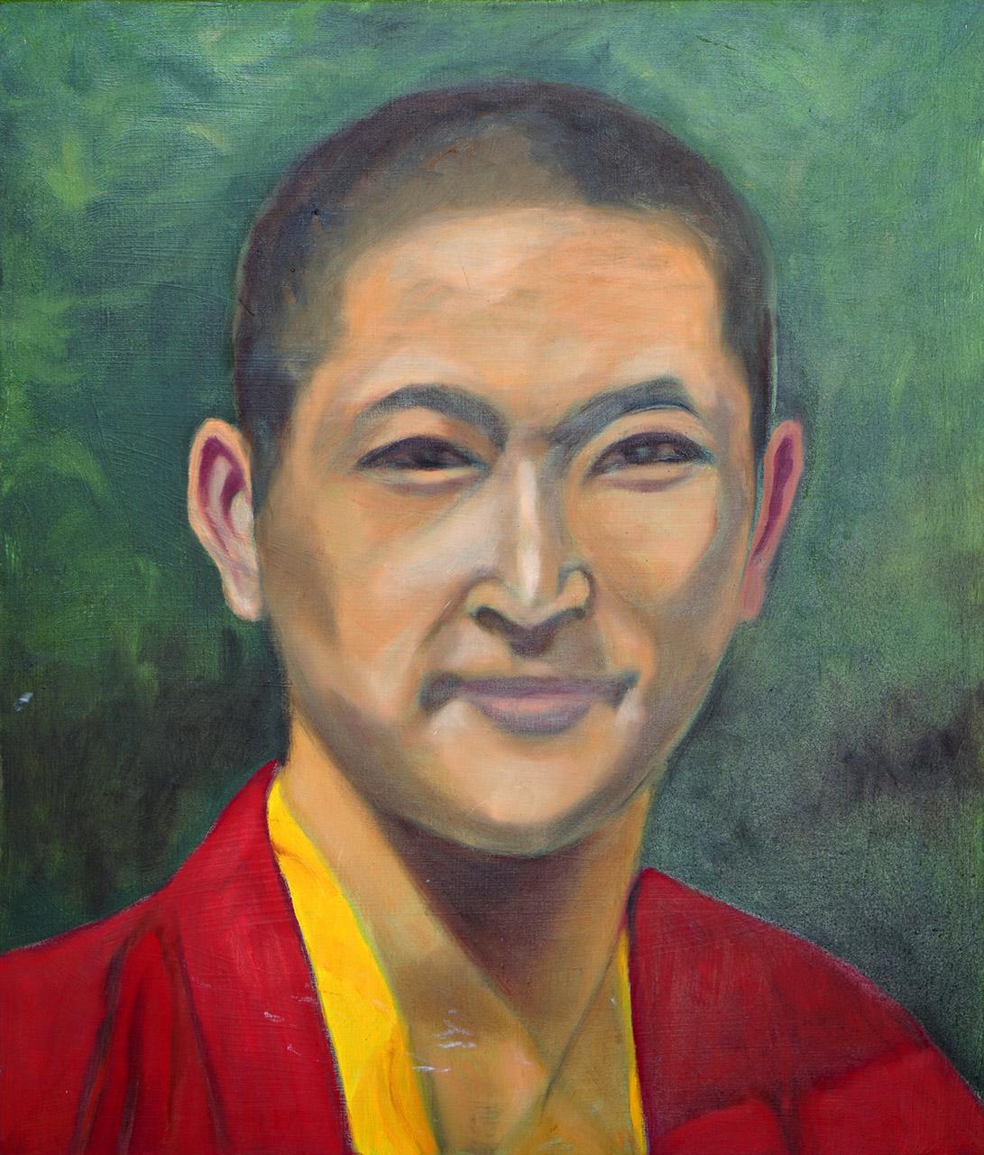 Henny Houtzager_Nepalese monnik_olieverf_50x70
