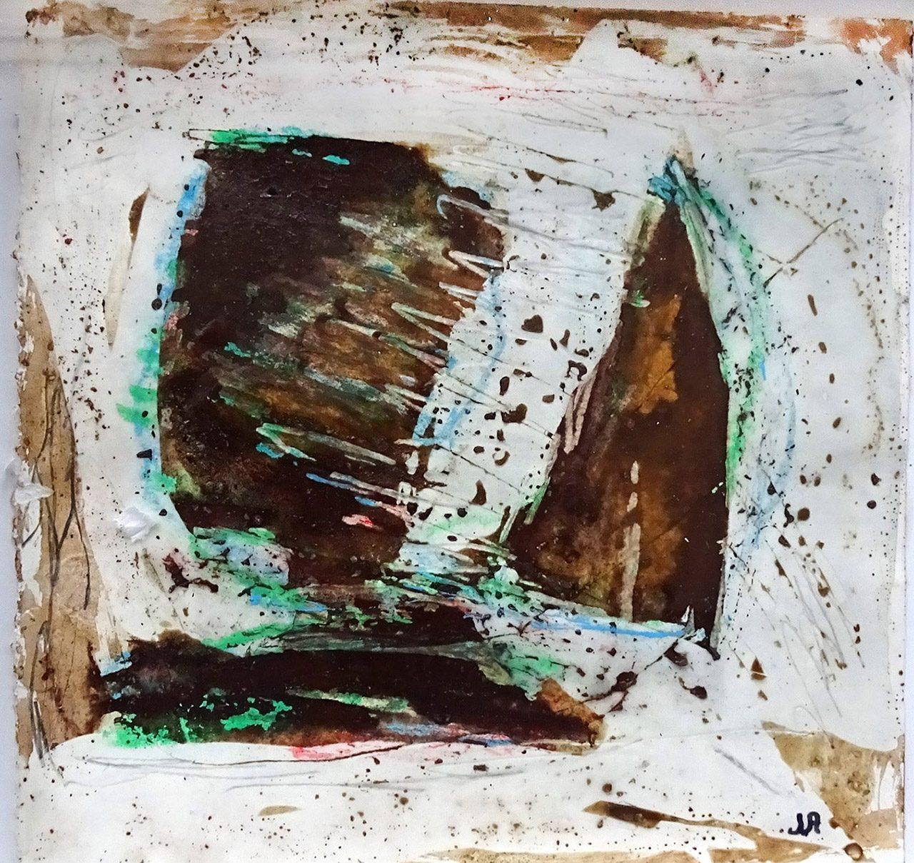 Josina van Amsterdam_zonder titel 1_was pigment as krijt op papier_20x20