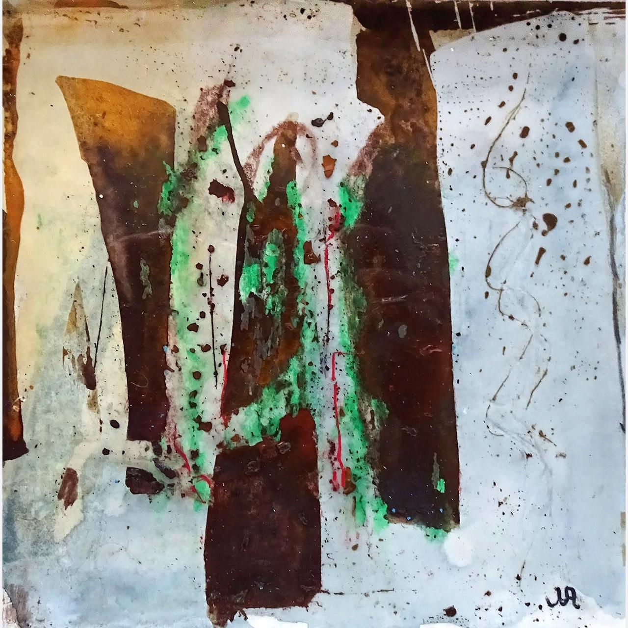 Josina van Amsterdam_zonder titel 2_was pigment as krijt op papier_20x20