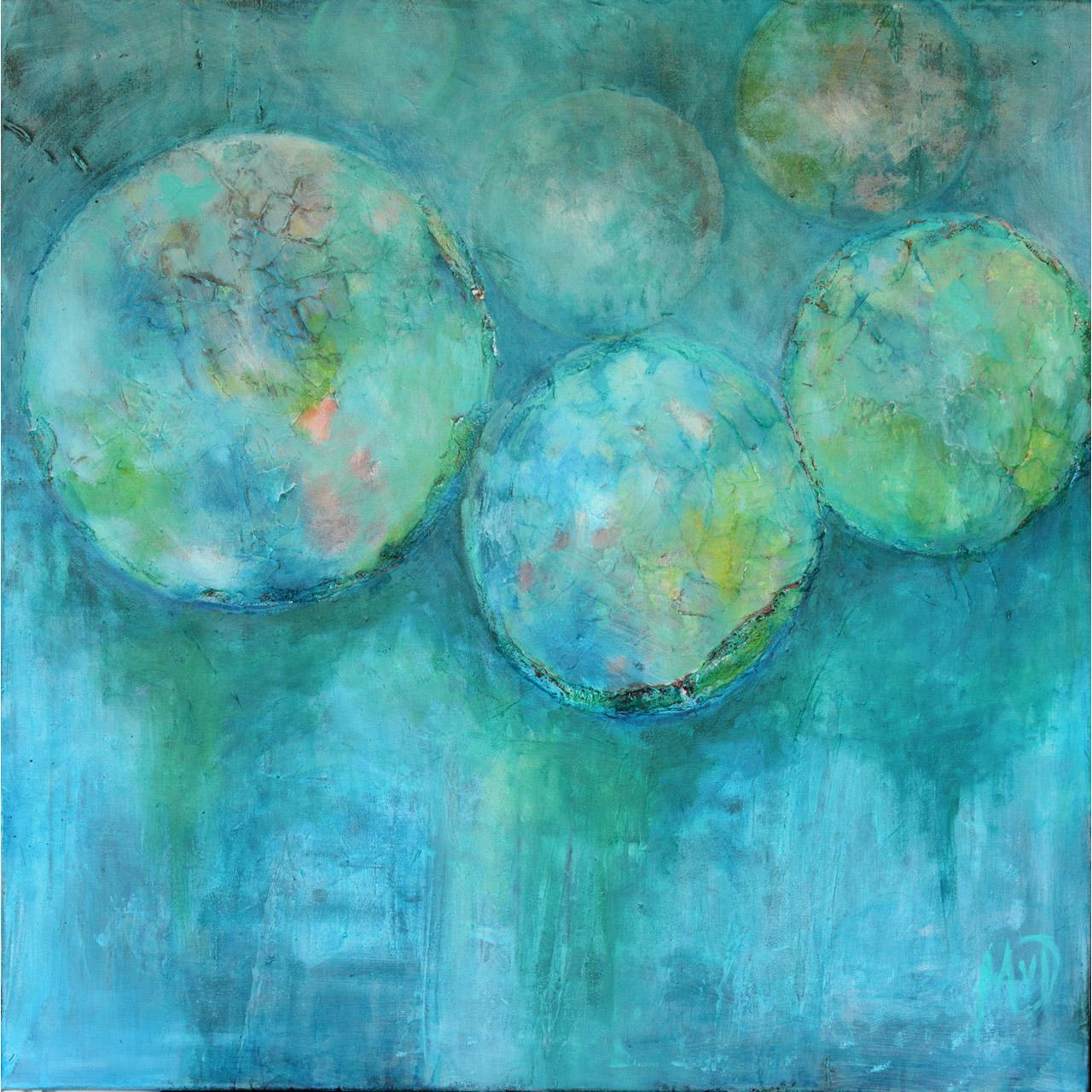 Marja van Dooremalen_Balls_acryl op doek_90x90