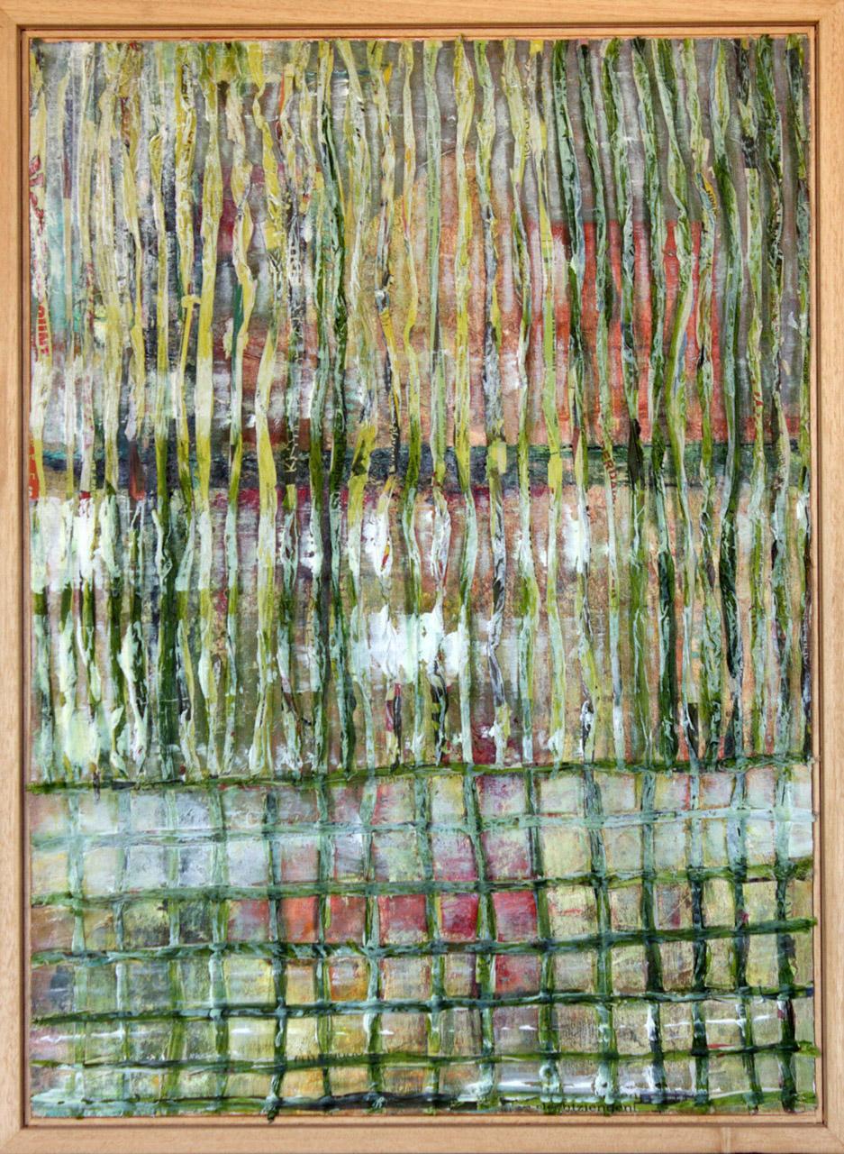 Marja van Dooremalen_Green paper_papier acryl_53x70