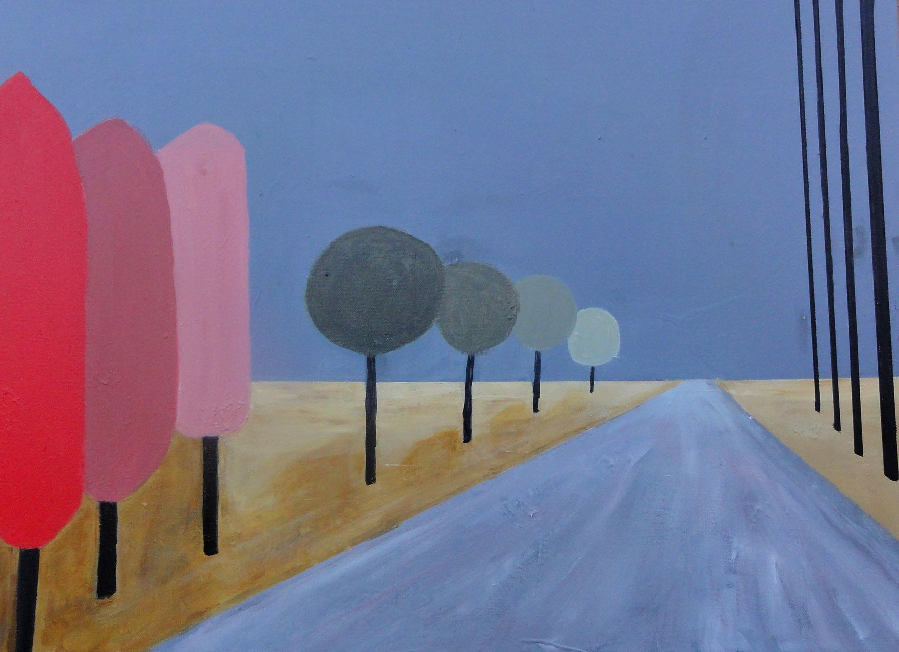 Mieke Walraven_Weg met bomen 1