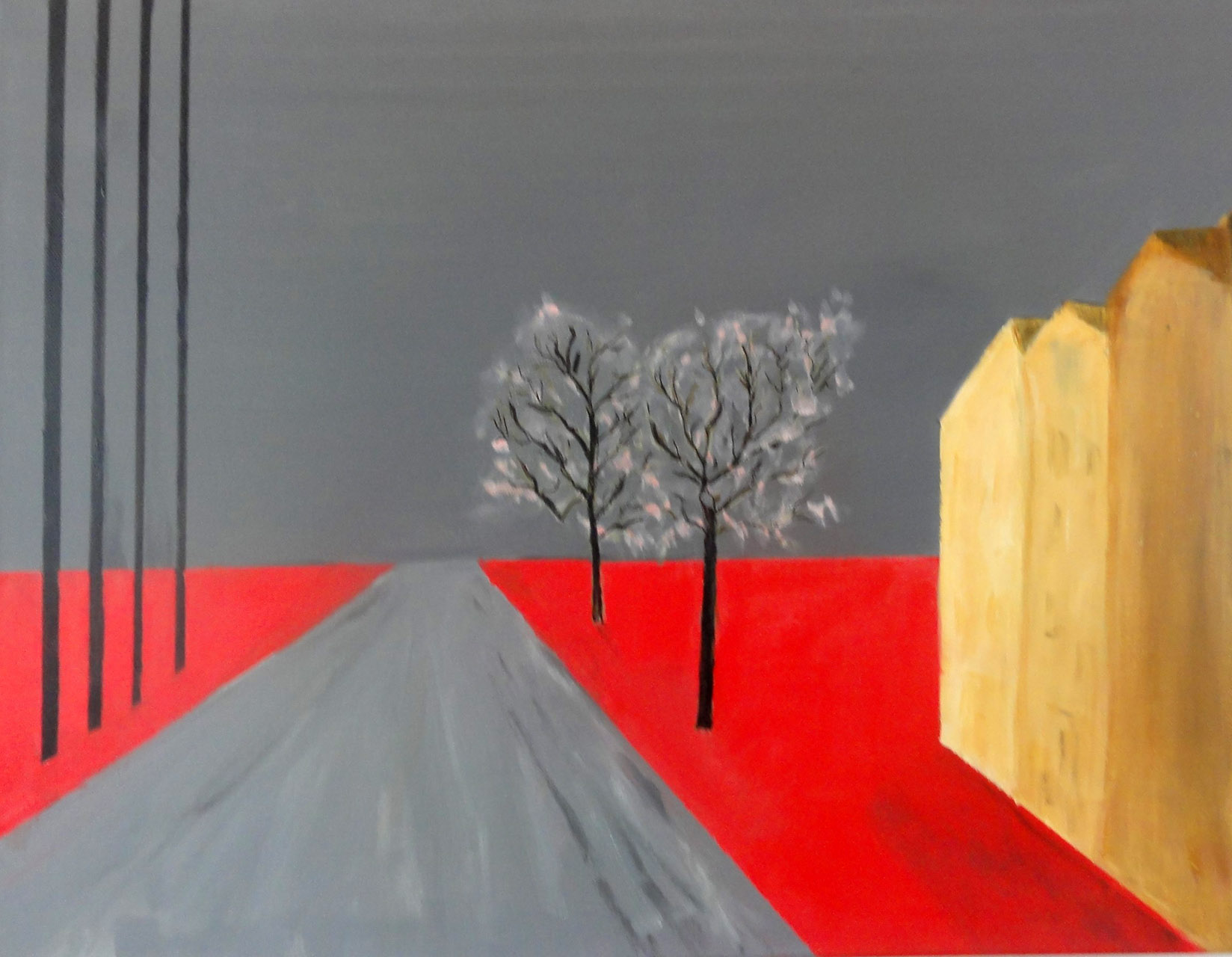 Mieke Walraven_Weg met bomen 2