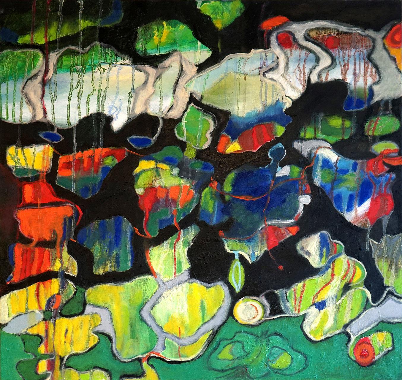 Nellie van Kemenade_Crystal_olieverf op canvas_70x70