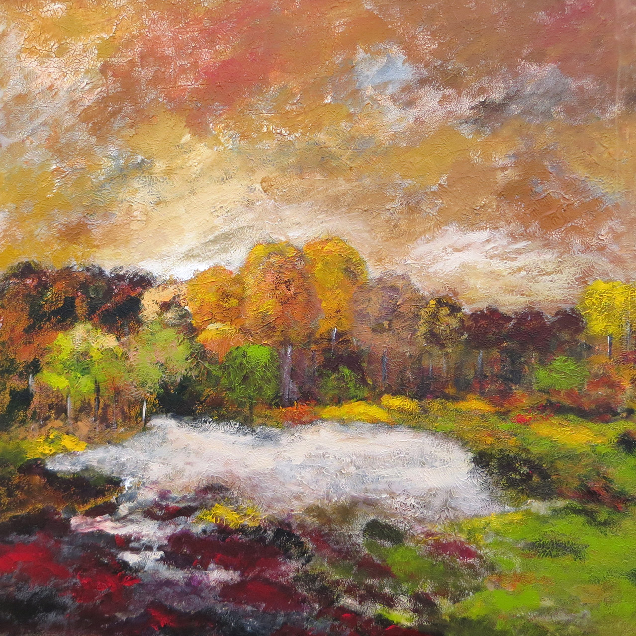 Peter Hoeben_Landschap 1_acryl op doek_80x80