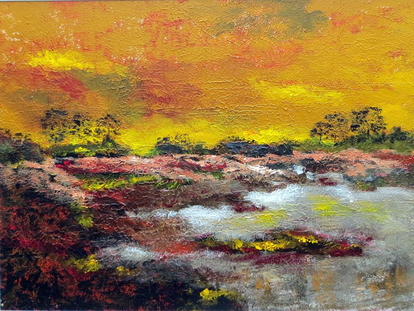 Peter Hoeben_Landschap 3_acryl op paneel_ 80 x 60