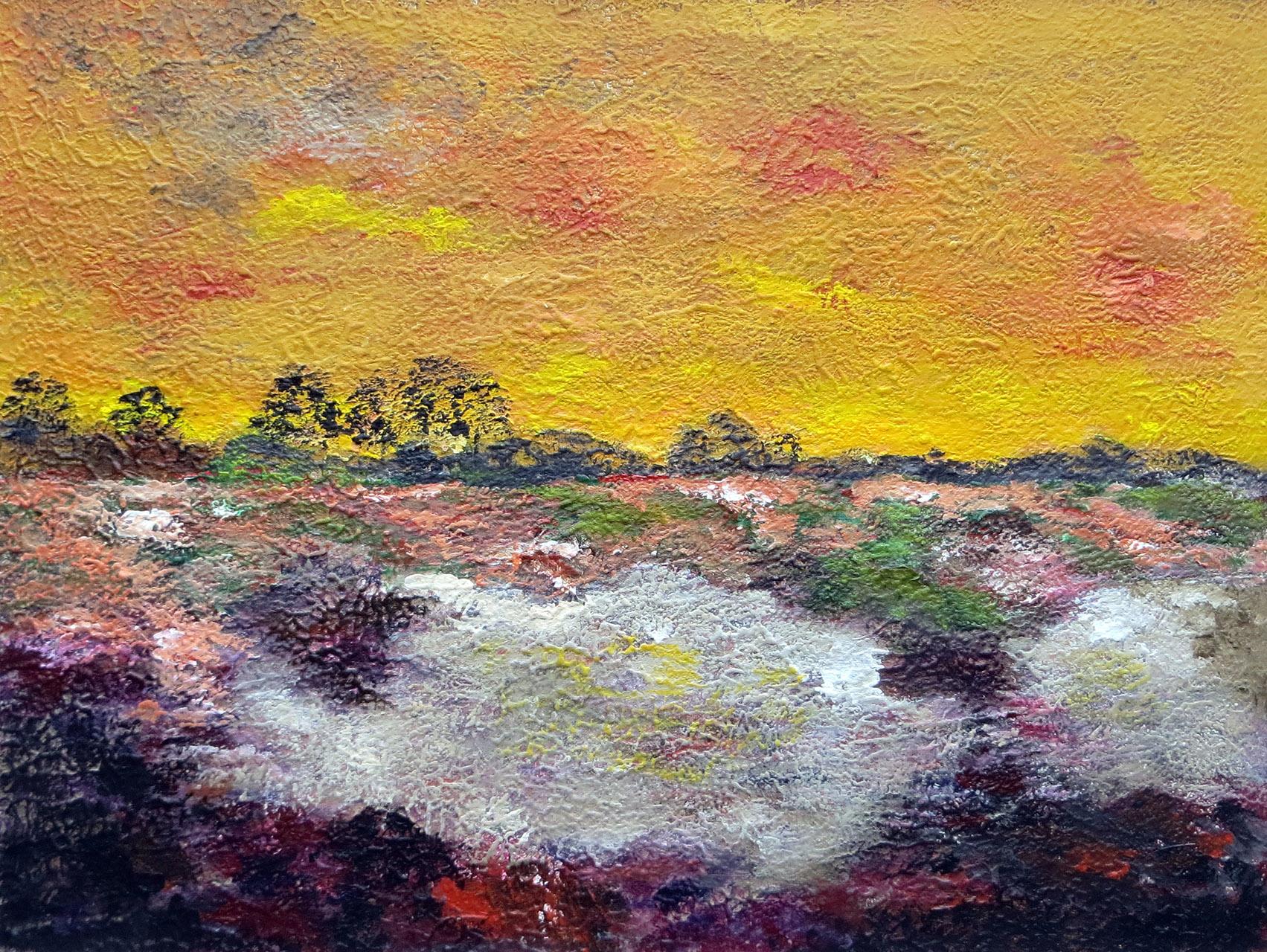 Peter Hoeben_Landschap 4_acryl op paneel_ 80 x 60