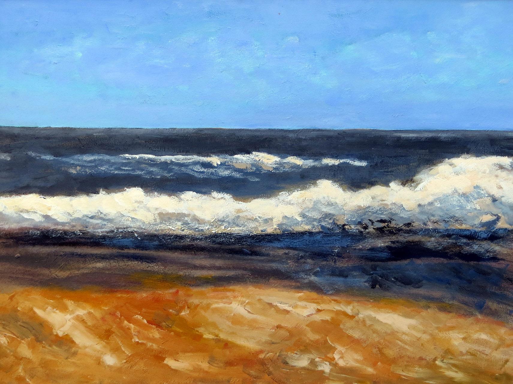 Peter Hoeben_Zeegezicht 1_acryl op paneel_80 x 60