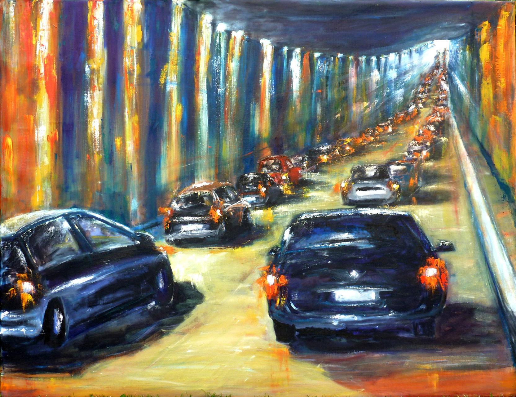 Rina Bekkers_Tunnel_olie op doek_116x90cm