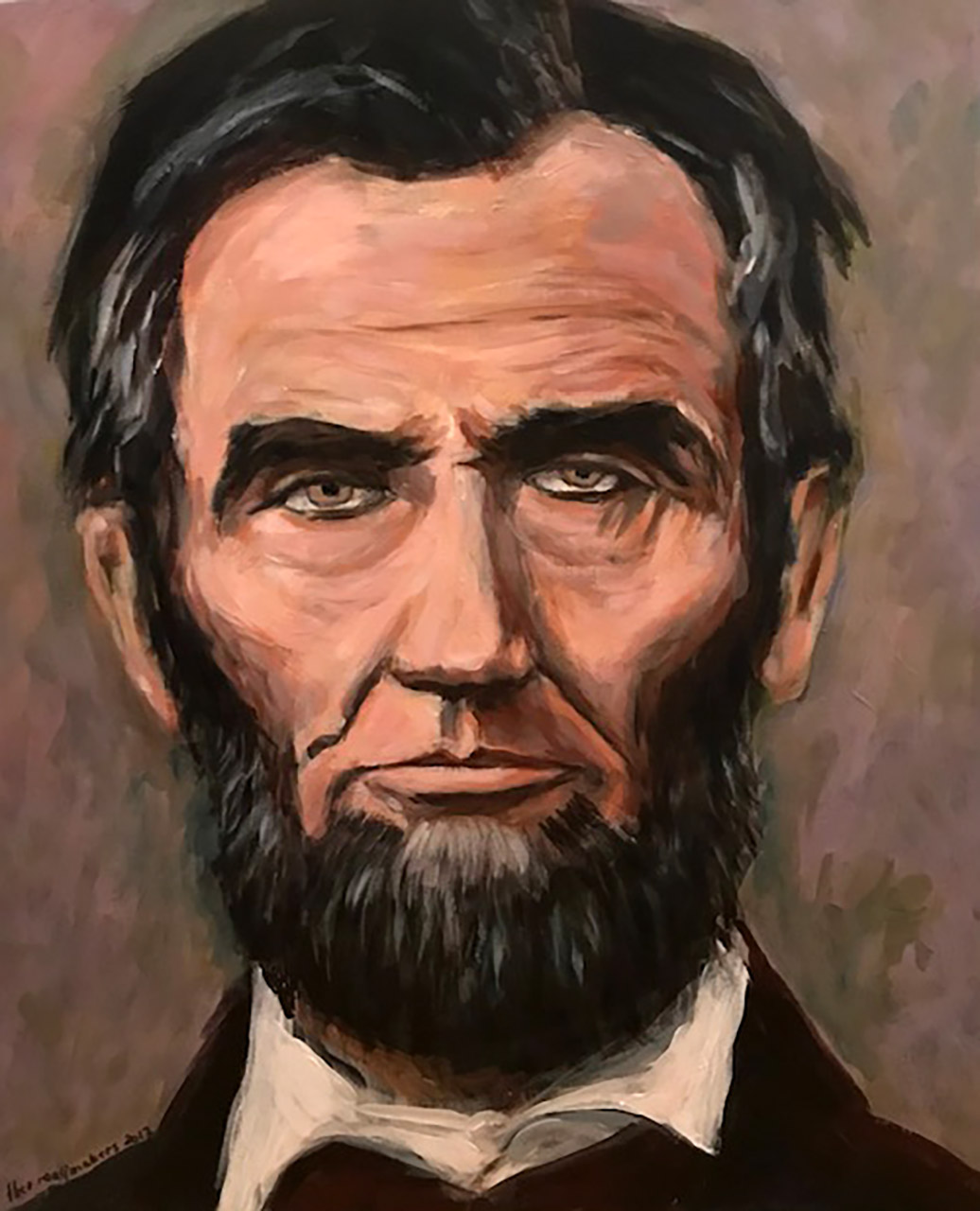 Theo Raaijmakers_Abraham Lincoln_80x60